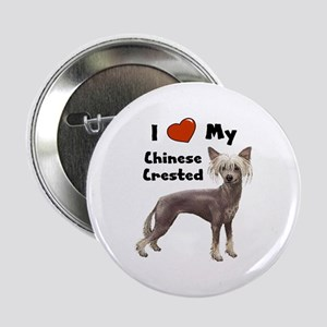 "I Love My Chinese Crested 2.25"" Button"