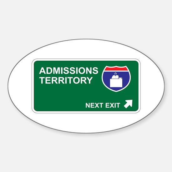 Admissions Territory Oval Decal