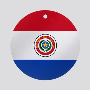 Flag of Paraguay Round Ornament