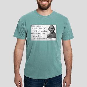 Gandhi quote - Intolerance is Ash Grey T-Shirt