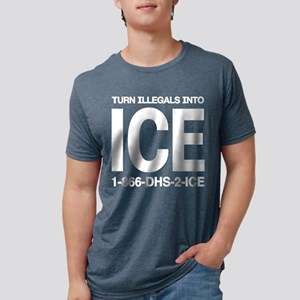 TURN ILLEGALS INTO ICE - Black T-Shirt