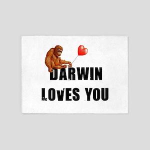 Darwin Loves You 5'x7'Area Rug