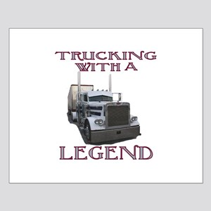 Trucking With A Legend Small Poster