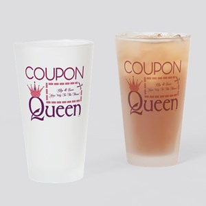 COUPON QUEEN Drinking Glass