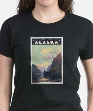 Alaska AK Women's Dark T-Shirt