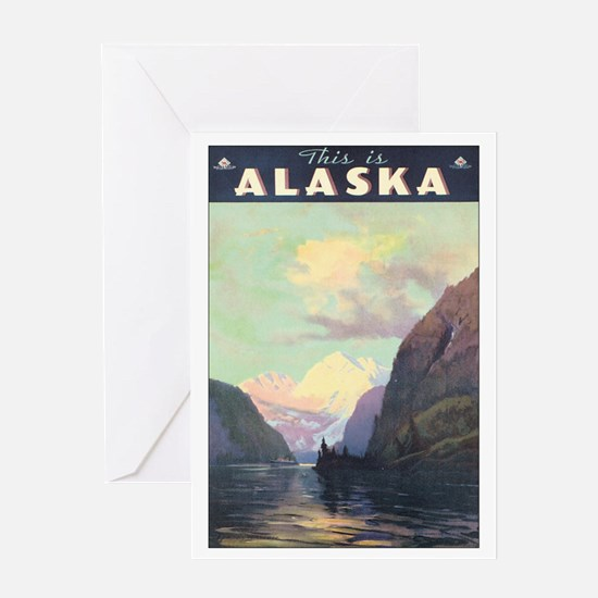 Alaska AK Greeting Card