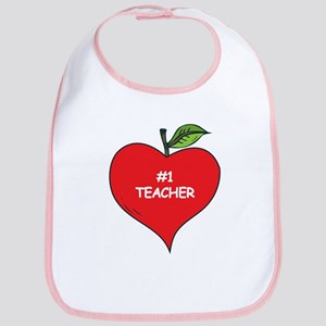 Heart Apple #1 Teacher Bib