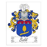 Baldi Family Crest Small Poster