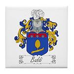 Baldi Family Crest Tile Coaster