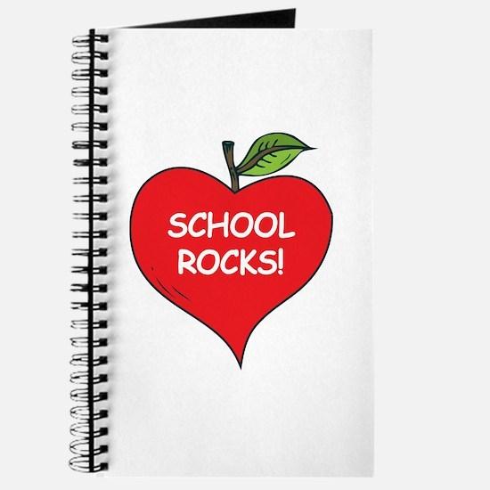 Heart Apple School Rocks Journal