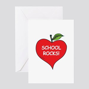 Heart Apple School Rocks Greeting Card