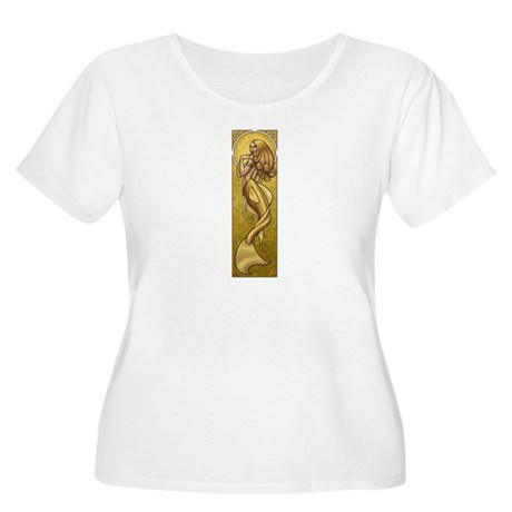 Gold Mermaid Nouveau Women's Plus Size Scoop Neck