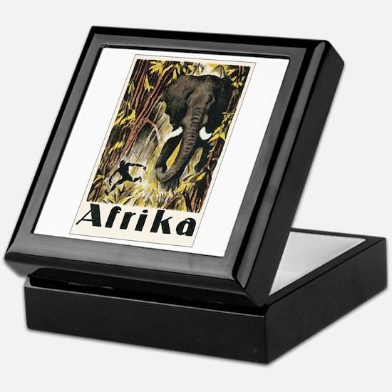 Africa Elephant Keepsake Box