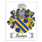Barbaro Family Crest Small Poster