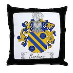 Barbaro Family Crest Throw Pillow