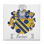 Barbaro Family Crest Tile Coaster