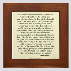 The Man In The Arena Quote by Theodore Roosevelt F