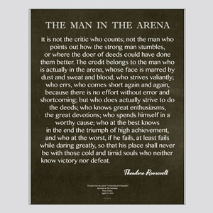 The Man In The Arena Posters
