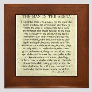The Man In The Arena Framed Tile