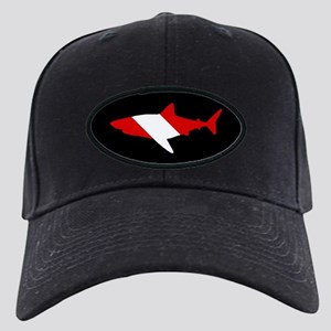 Diving Flag: Shark Black Cap with Patch