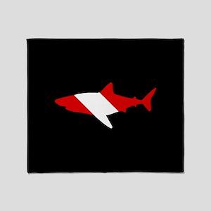 Diving Flag: Shark Throw Blanket