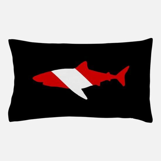 Diving Flag: Shark Pillow Case