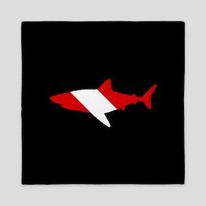 Diving Flag: Shark Queen Duvet
