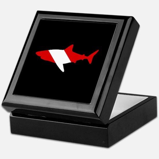 Diving Flag: Shark Keepsake Box