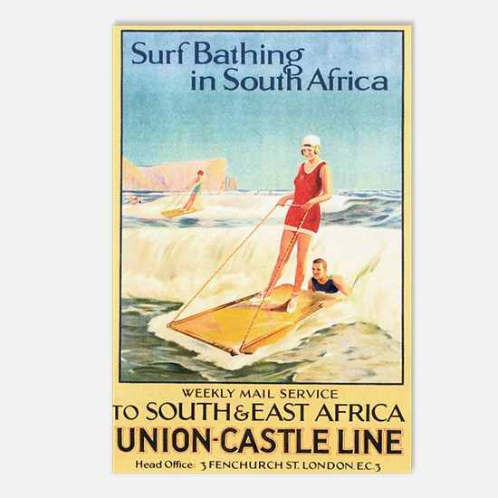 South Africa Surfing Postcards (Package of 8)