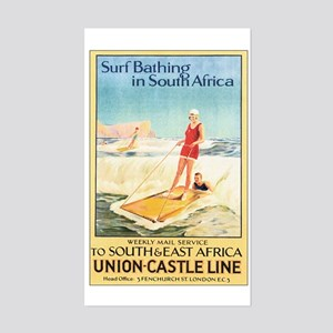 South Africa Surfing Rectangle Sticker