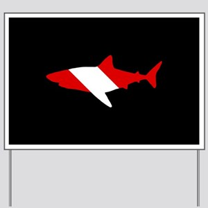 Diving Flag: Shark Yard Sign
