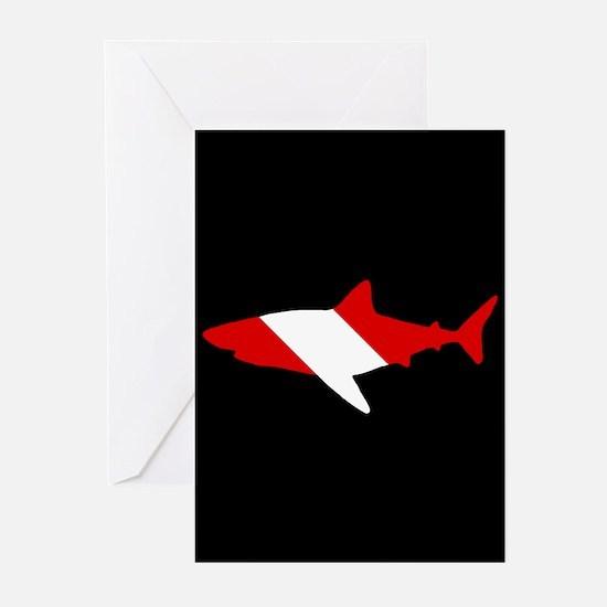 Diving Flag: Shark Greeting Cards (Pk of 20)