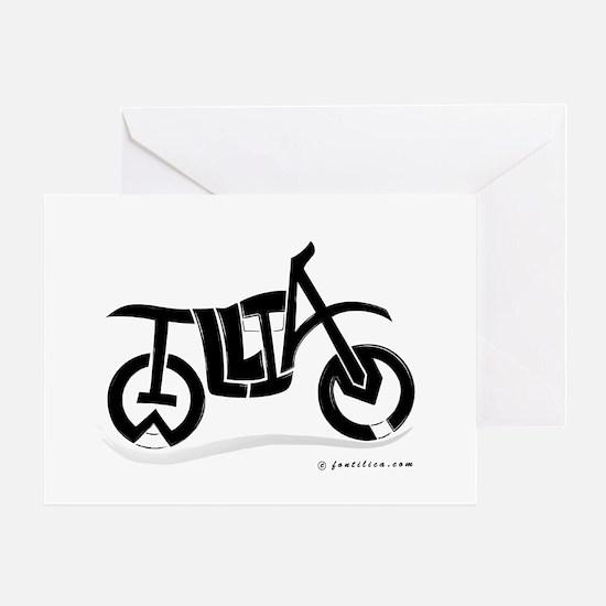 William Black Bike Greeting Card