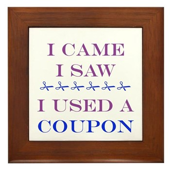Coupon Framed Tile