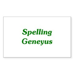 Spelling Geneyus Rectangle Decal
