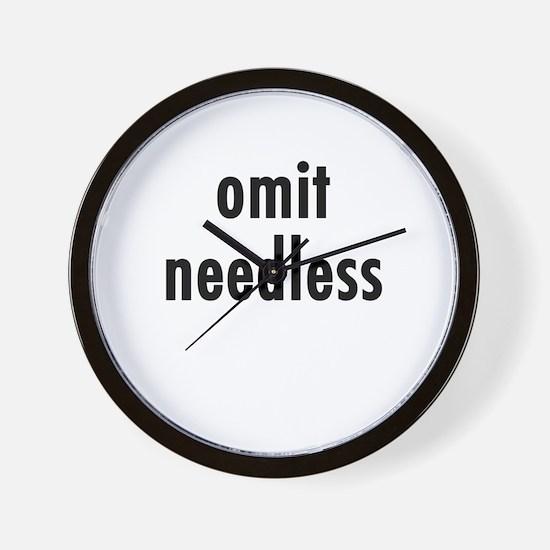 Omit needless Wall Clock