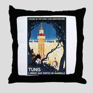Tunis Tunisia Throw Pillow