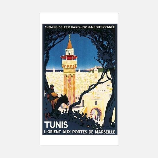 Tunis Tunisia Rectangle Decal