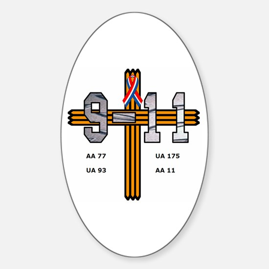 9/11 Memorial Oval Decal