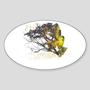 Gold Finch Oval Sticker