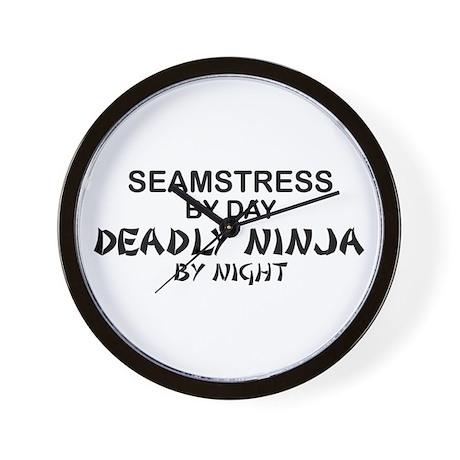Seamstress Deadly Ninja by Night Wall Clock