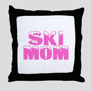 Ski Mom Throw Pillow