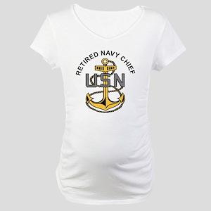 RETIREDNAVYCHIEF Maternity T-Shirt