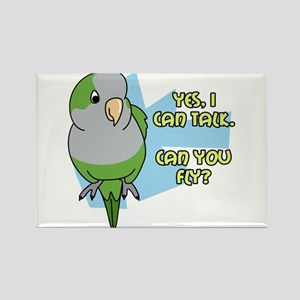 Can You Fly Quaker Parrot Rectangle Magnet