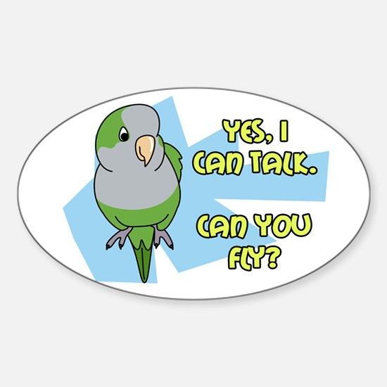 Can You Fly Quaker Parrot Oval Decal