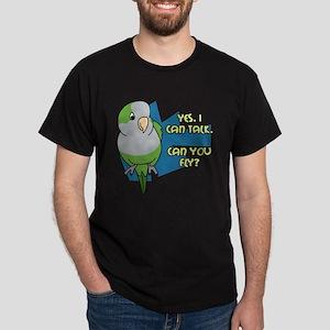 Can You Fly Quaker Parrot Dark T-Shirt