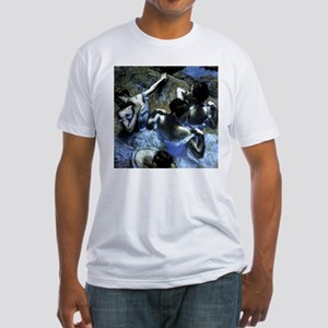 Degas' Blue Dancers Fitted T-Shirt