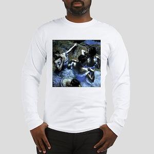Degas' Blue Dancers Long Sleeve T-Shirt