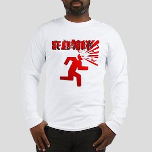 Headshot w Text Long Sleeve T-Shirt