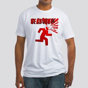 Headshot w Text Fitted T-Shirt